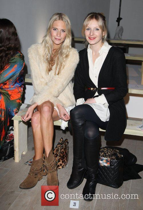 Poppy Delevigne and Savannah Miller London Fashion Week...