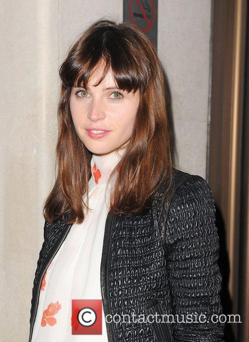 Felicity Jones outside the May Fair hotel