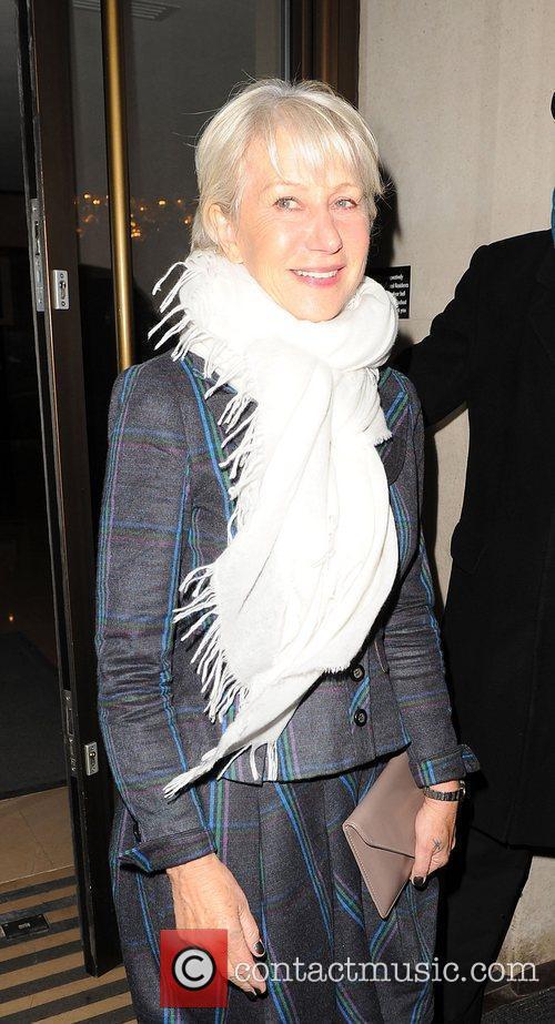 Helen Mirren keeping the chill out wearing an...