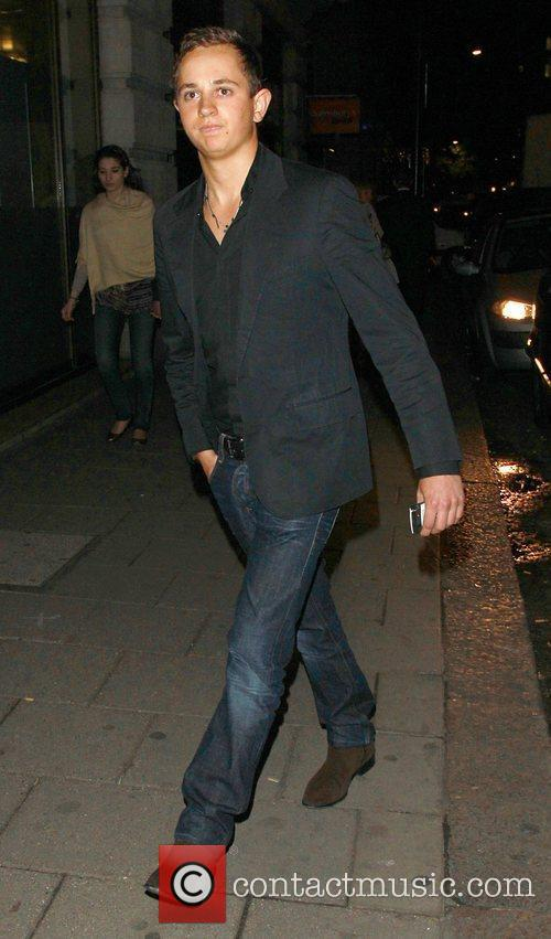 George Lineker out and about in Mayfair