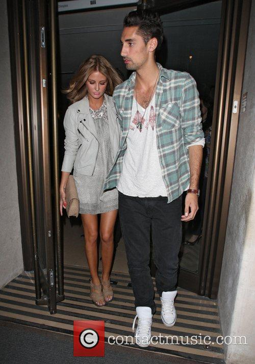 Hugo Taylor and Millie Mackintosh celebrities outside The...