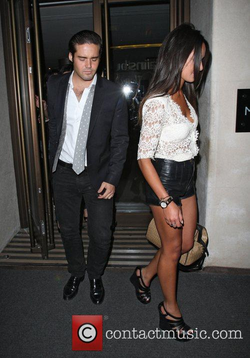 Spencer Matthews celebrities outside The May Fair Hotel...