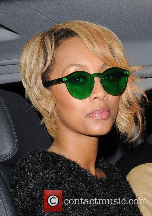Keri Hilson leaving May Fair Hotel wearing green...