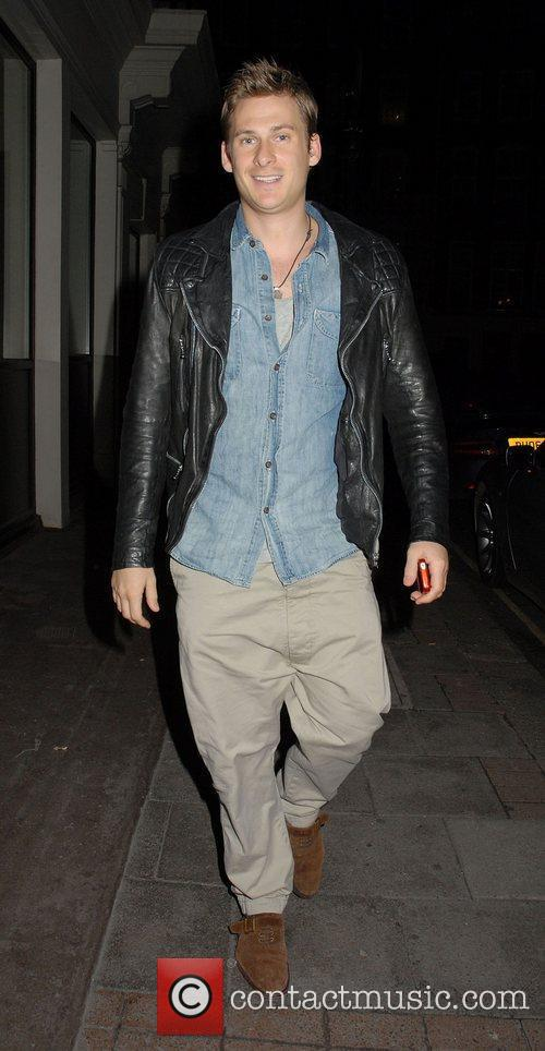 Lee Ryan at the May Fair hotel.