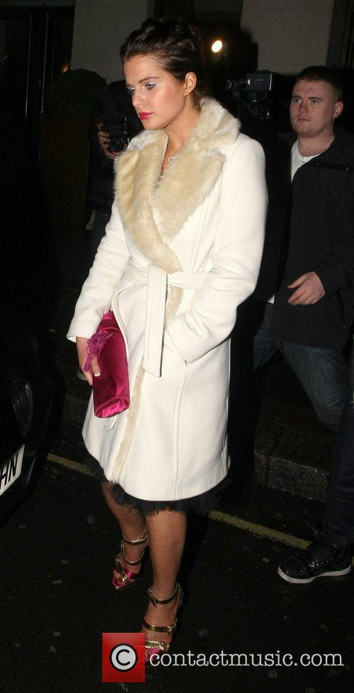 Helen Flanagan leaves the May Fair hotel with...
