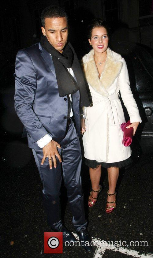 Helen Flanagan and boyfriend Scott Sinclair leave the...