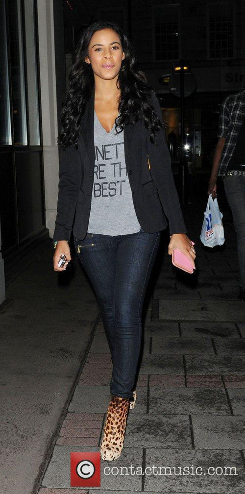 Rochelle Wiseman arrives at the May Fair hotel...