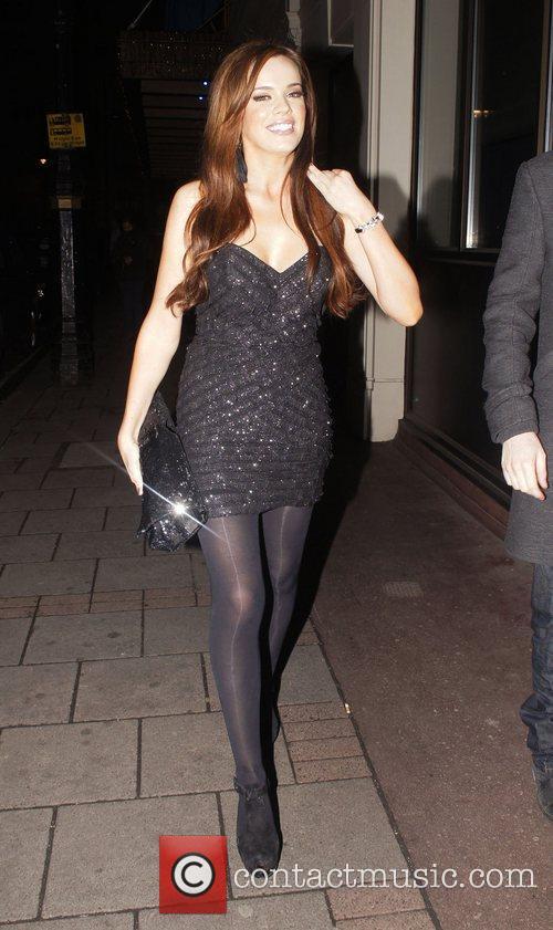 Maria Fowler  outside the Mayfair hotel London,...