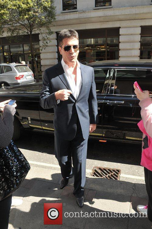 Simon Cowell Celebrities outside the May Fair hotel...