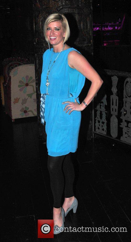 Caroline Feraday,  at Liz McClarnon's birthday party...