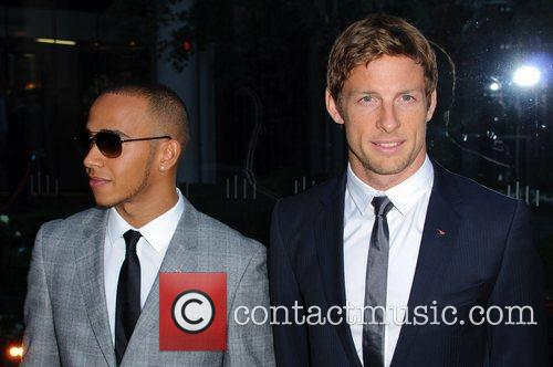 Lewis Hamilton and Jenson Button McLaren Automotive Showroom...