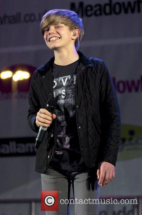 Ronan Parke performs at Meadowhall Christmas Light Switch...