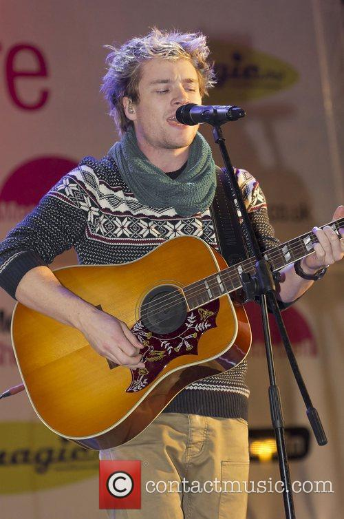 Sam Clarke performs at Meadowhall Christmas Light Switch...