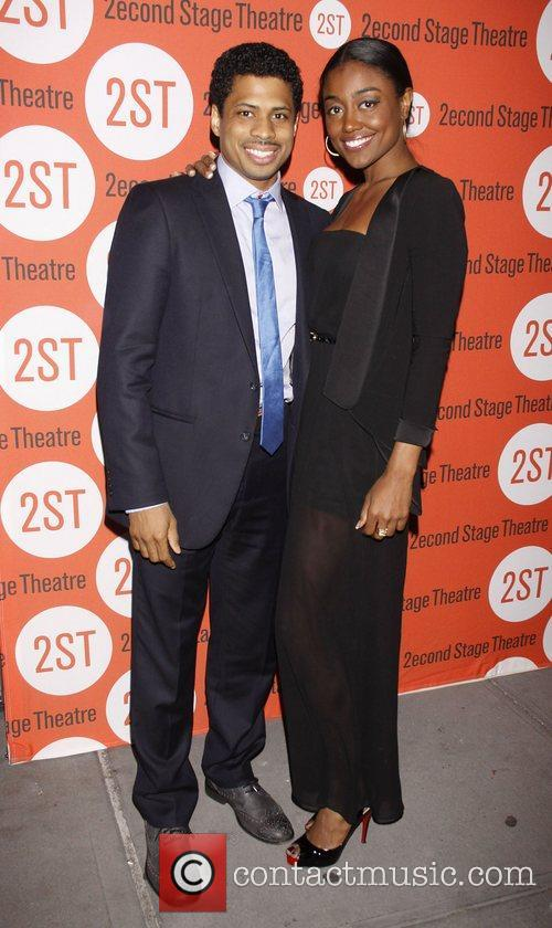 Chestor Gregory and Patina Miller Opening night after...