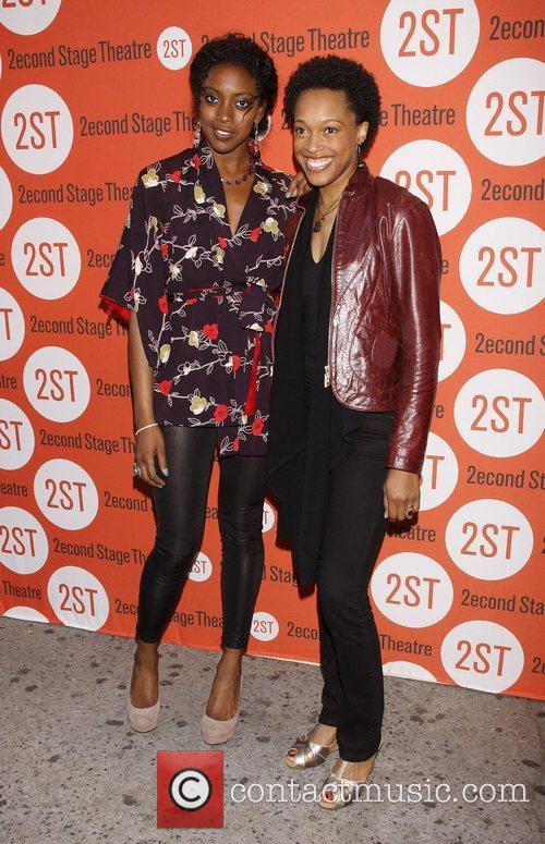 Condola Rashad and Cherise Boothe Opening night after...