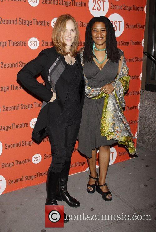 Jo Bonney and Lynn Nottage Opening night after...