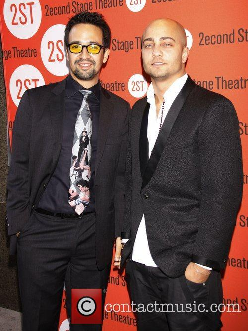 Lin-Manuel Miranda and Seth Stewart Opening night after...