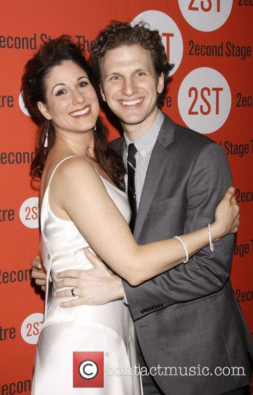 Stephanie J. Block and Sebastian Arcelus Opening night...