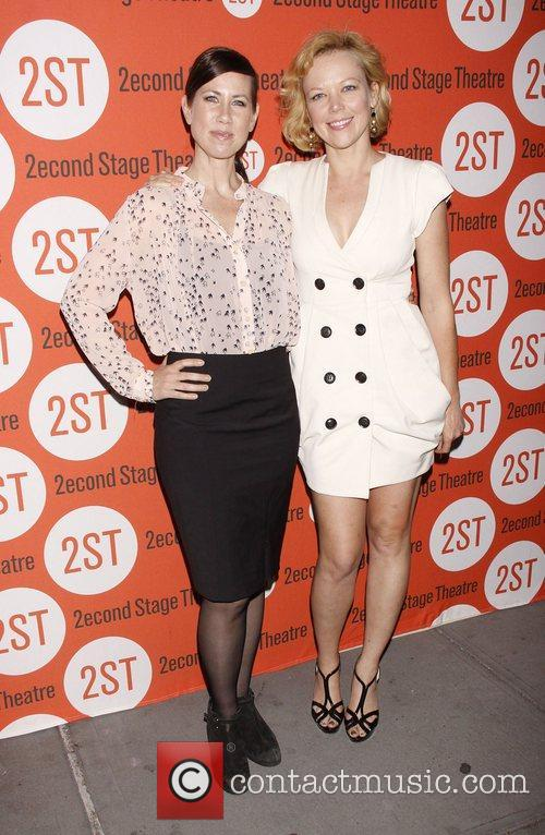 Miriam Shor and Emily Bergl Opening night after...