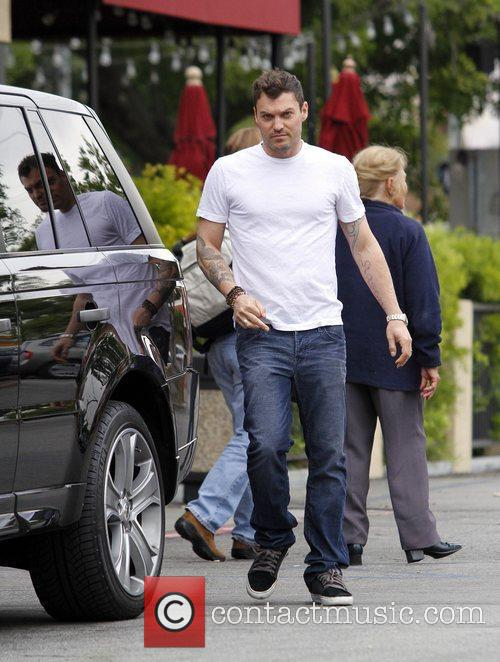 Brian Austin Green returns to his car after...