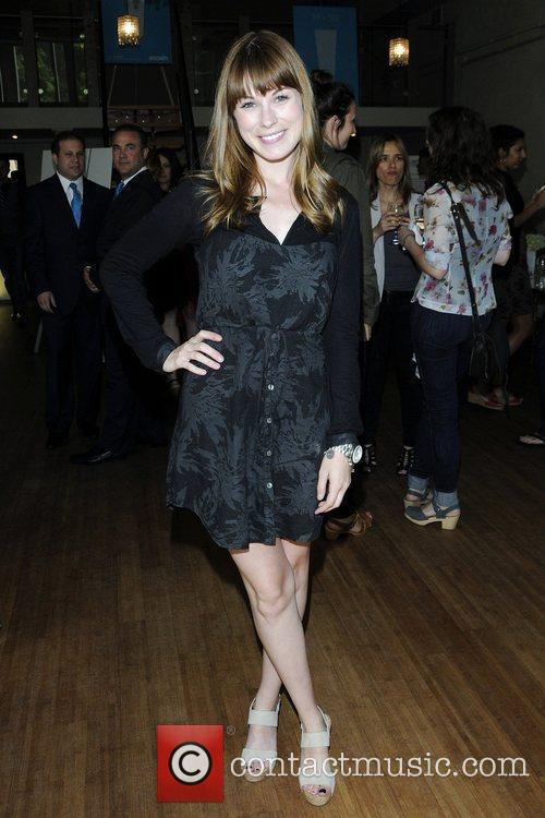 Meghan Heffern at the launch party for Snoxin,...