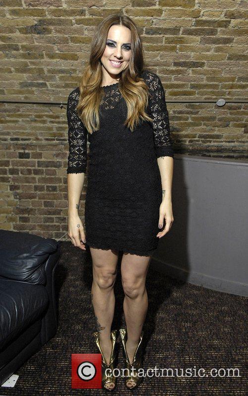Mel C (real name Melanie Chisholm) backstage after...