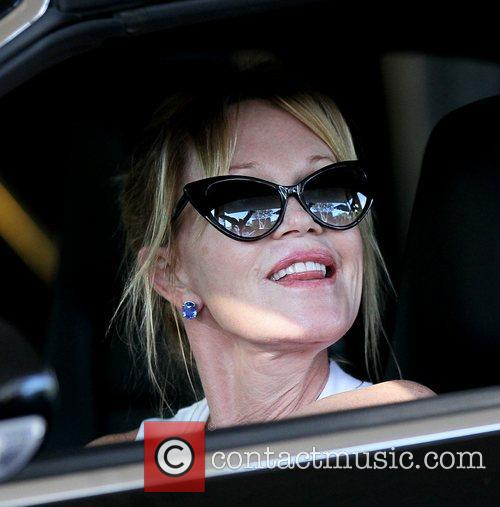 Melanie Griffith in good spirits as she leaves...