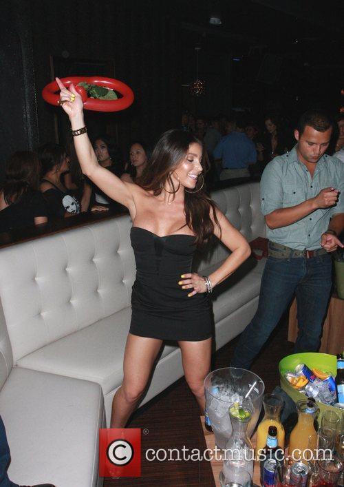 Melissa Molinaro making an appearance at The Chloe...