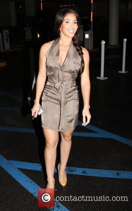 Melissa Molinaro leaves a poker party on Wilshire...