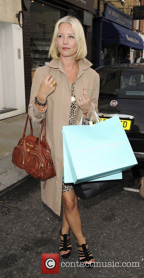 Denise Van Outen attends the Melissa Odabash boutique...