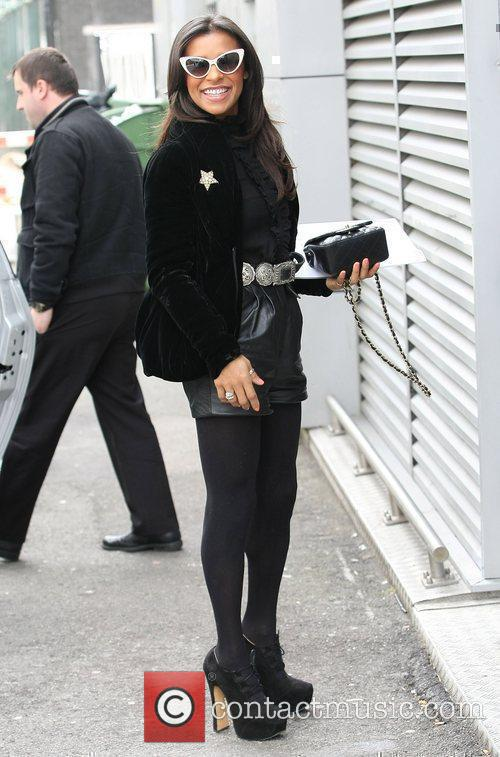 Melody Thornton out and about in central London...