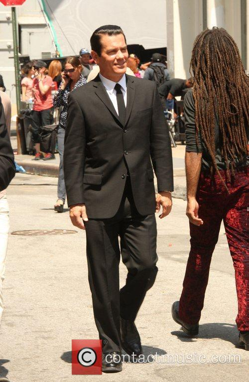 Josh Brolin filming 'Men In Black III' on...