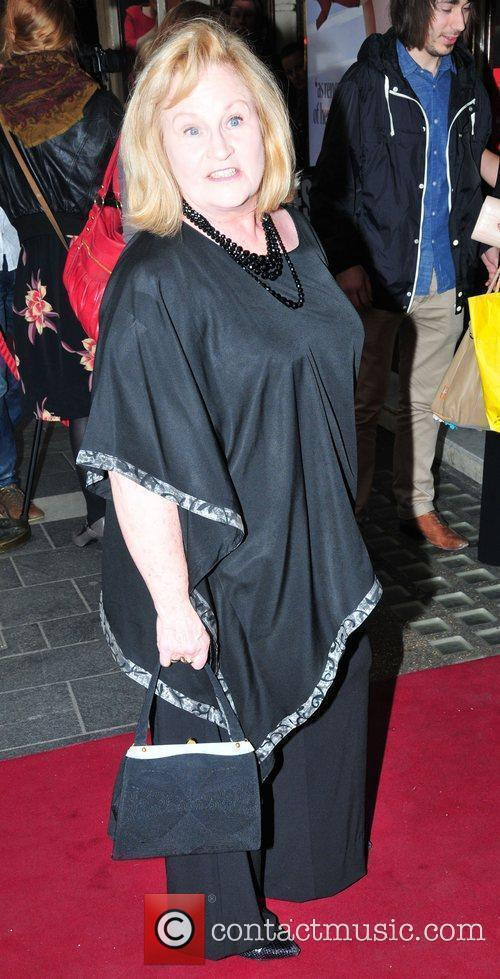 Michelle Dotrice,  arriving for the opening show...