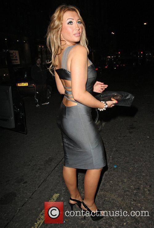 Lauren Goodger arriving at Merah Nightclub in Mayfair