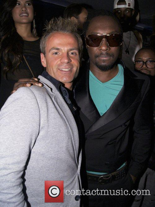 Will.i.am and Julian Bennett  Celebrities party at...