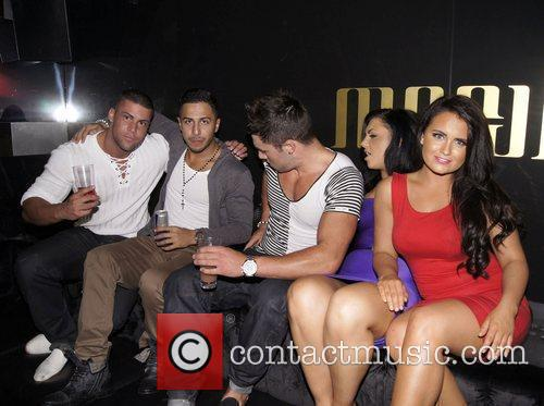 The cast of 'Geordie Shore' Celebrities party at...