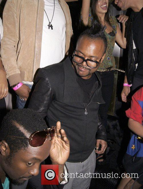 Will.i.am and Apl.de.ap Celebrities party at Merah club...