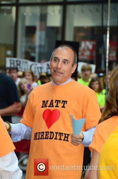Matt Lauer Meredith Vieira's last day at Rockefeller...