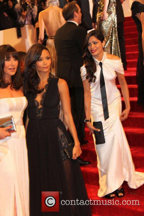 Tamara Mellon, Freida Pinto and Thandie Newton