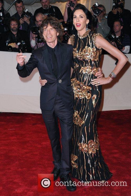 Mick Jagger and L'wren Scott 2