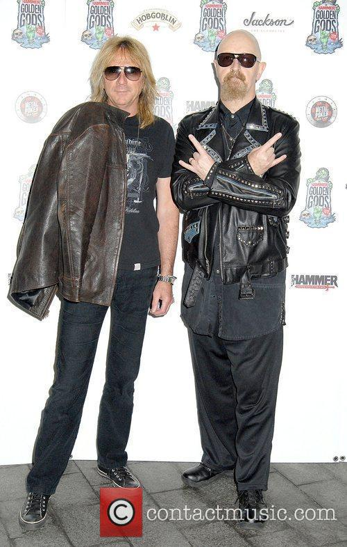 Glenn Tipton and Rob Halford,  at the...
