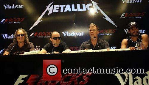 Metallica hold a press conference ahead of their...