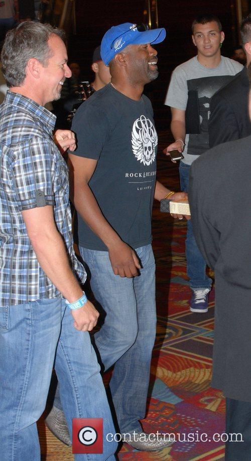 Darius Rucker Celebrities at the MGM Grand Hotel...