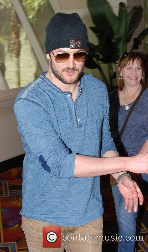 Eric Church Celebrities at the MGM Grand Hotel...