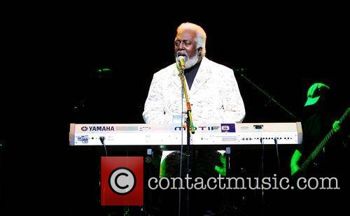 R&B singer, songwriter and pianist Latimore performs during...