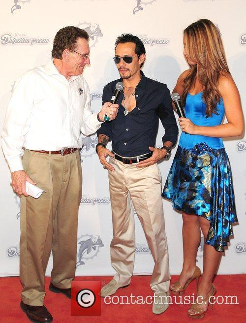 Marc Anthony, Lauren Strager  The Miami Dolphins...