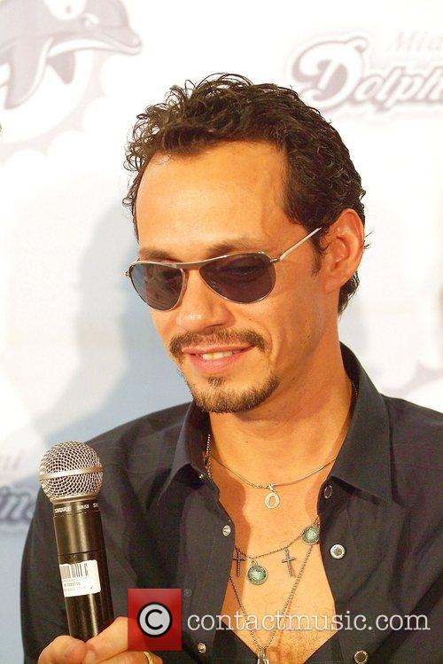 Marc Anthony The Miami Dolphins vs The New...