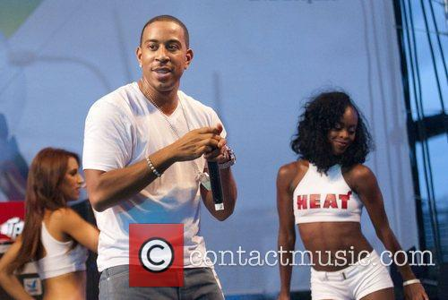 Ludacris performs live at the Miami Heat road...