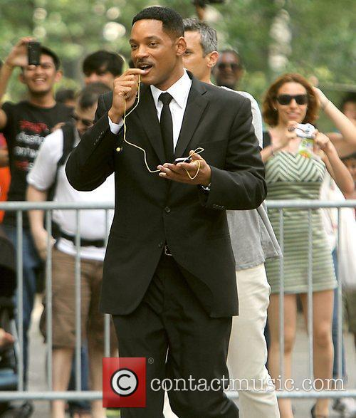 Will Smith  seen shooting on location for...