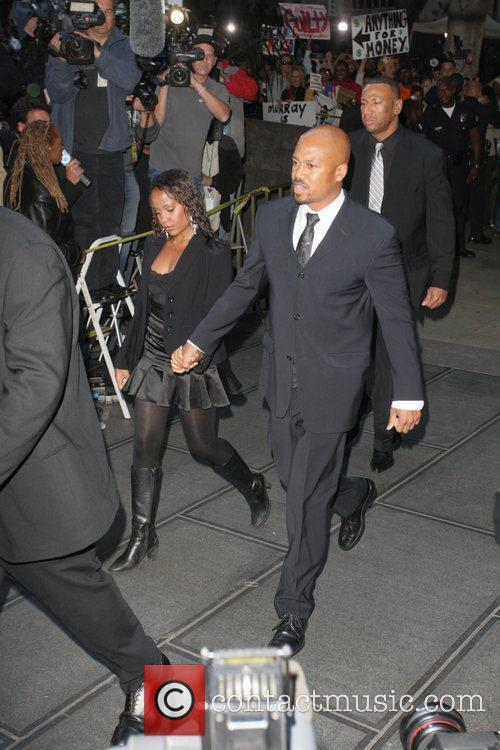 Jackson family members Arrivals at Los Angeles Superior...